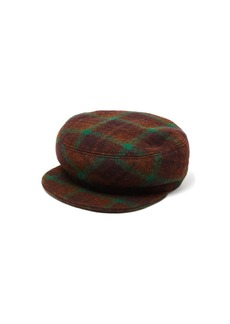 Isabel Marant Naly plaid wool felt cap