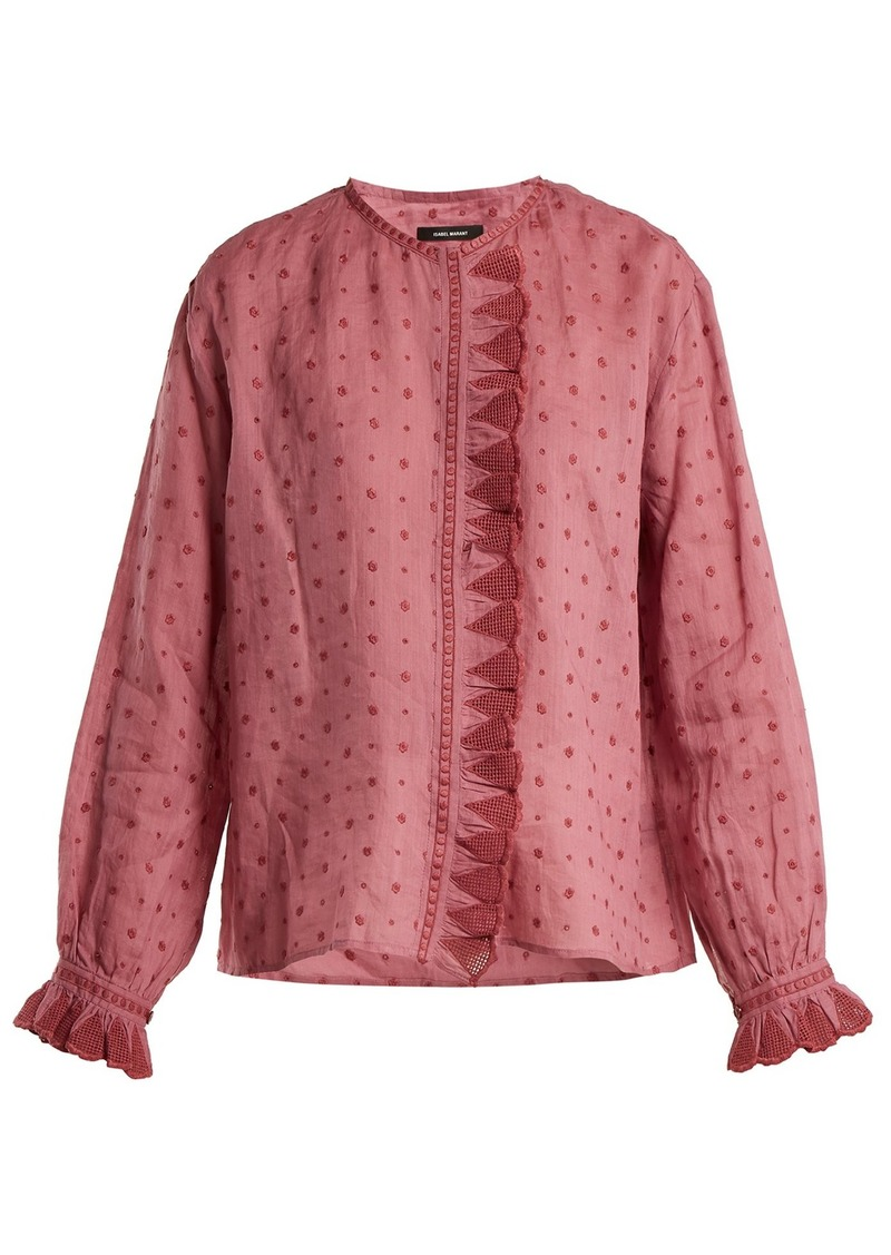 a9a1dd7aa4748 Isabel Marant Isabel Marant Namos ruffle-trimmed blouse Now  282.00