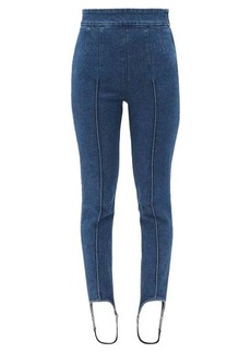 Isabel Marant Nanouli acid-washed denim stirrup leggings