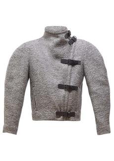 Isabel Marant Nate buckled high-neck wool-blend jacket