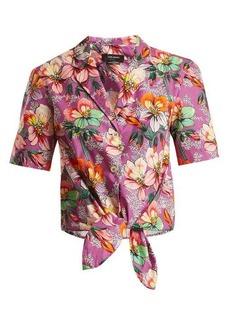 Isabel Marant Nelia floral-print tie-waist shirt