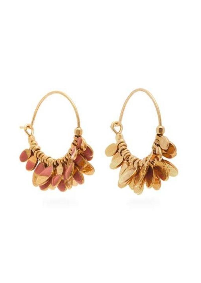 Isabel Marant New Leaves drop hoop earrings