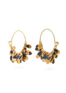Isabel Marant New Leaves drop hoop earrings