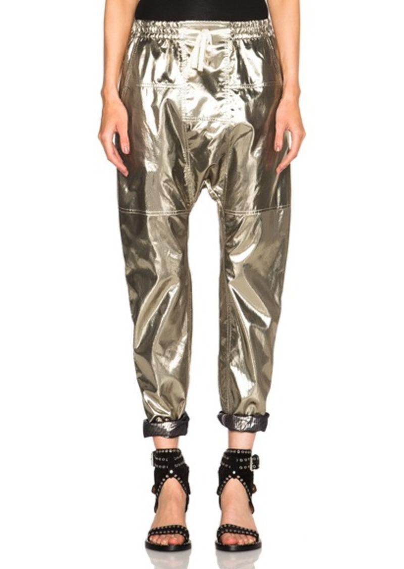 Isabel Marant Niall Metallic Silk Trousers