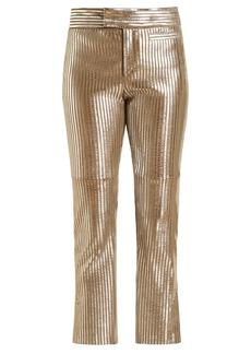 Isabel Marant Novida cropped leather trousers