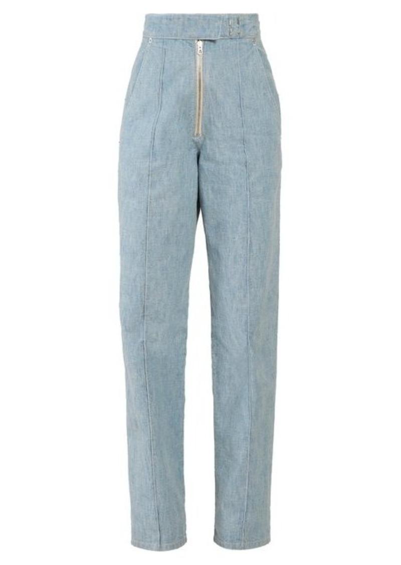 Isabel Marant Nuk high-rise straight-leg trousers