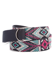 Isabel Marant Nyess Geo Embroidered Woven Belt