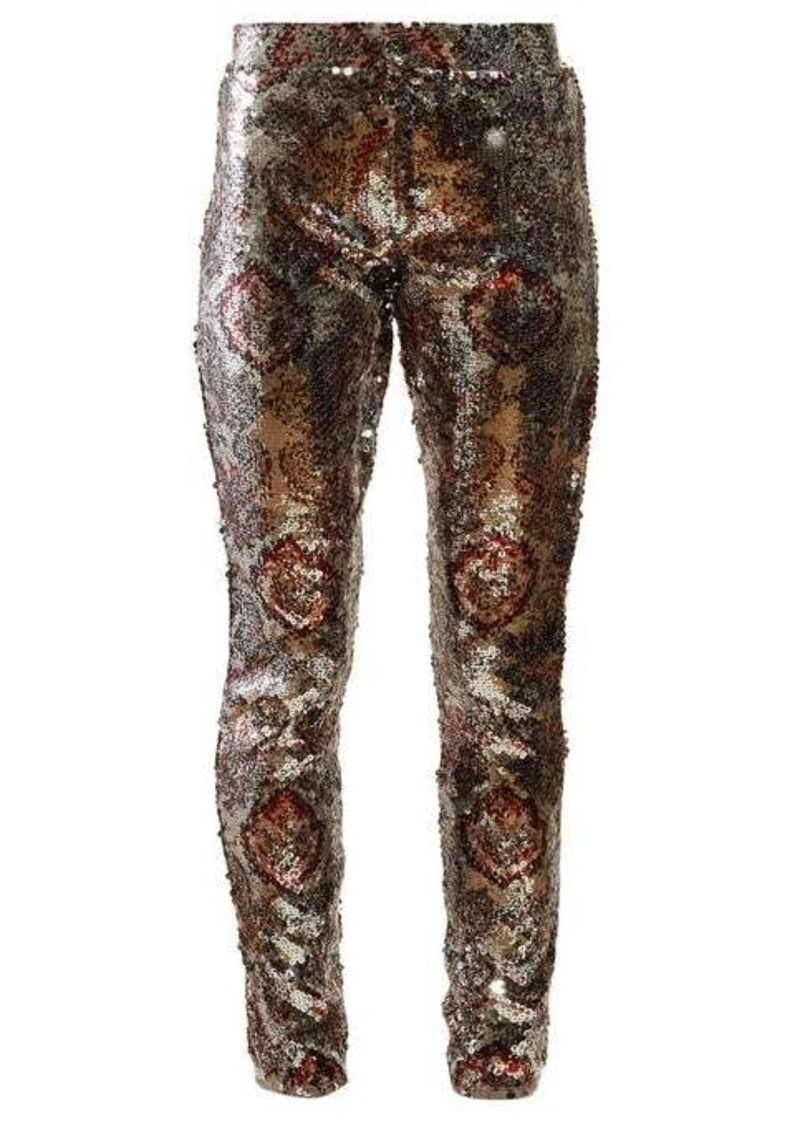 Isabel Marant Odizo sequinned slim-leg trousers
