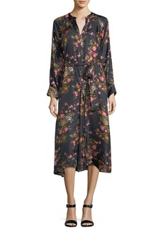 Isabel Marant Olympia Floral Silk Midi Dress