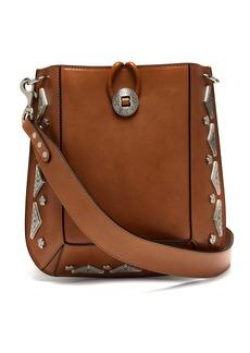Isabel Marant Oskan stud-embellished leather shoulder bag
