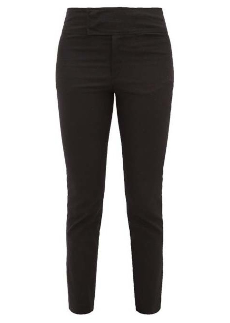 Isabel Marant Ovida slit-cuff cotton-blend trousers