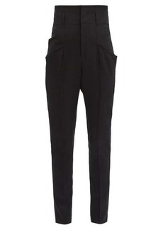 Isabel Marant Padme high-rise wool slim-leg trousers