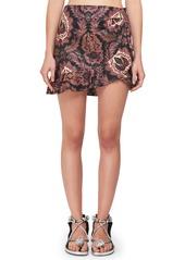 Isabel Marant Paisley-Print Ruffle Cotton Mini Skirt