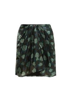 Isabel Marant Paris silk-blend mini skirt