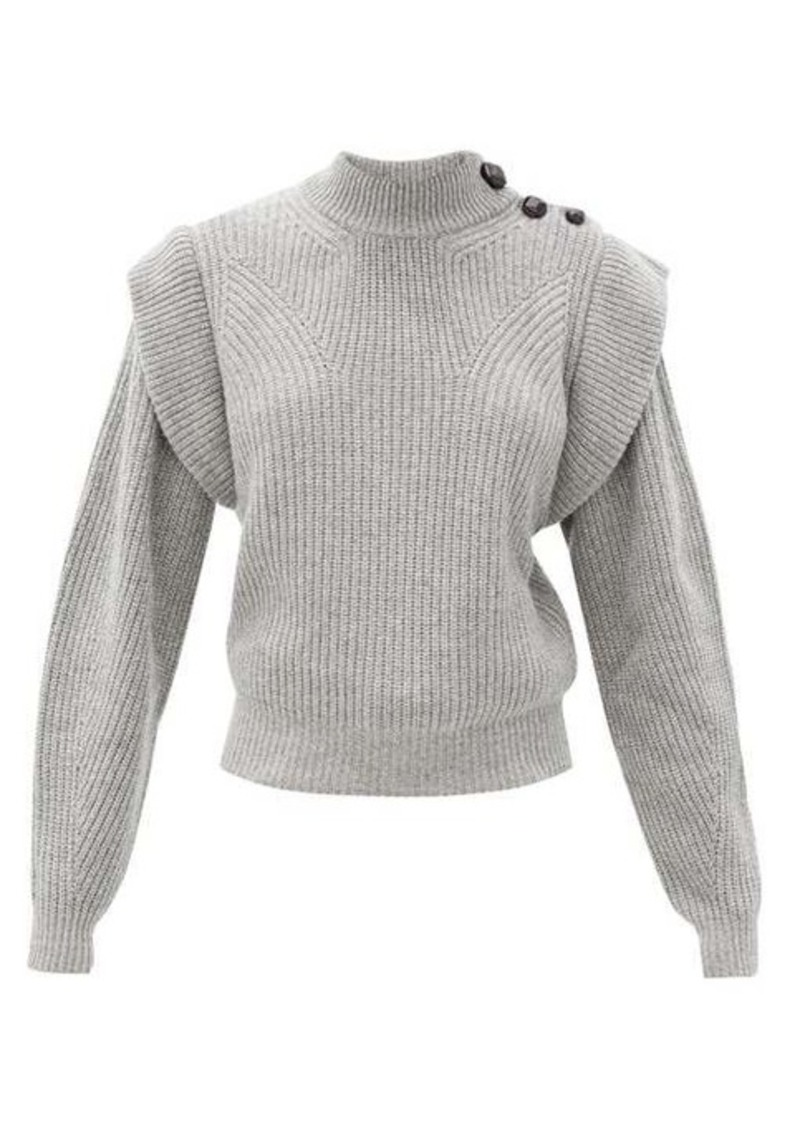 Isabel Marant Peggy exaggerated-shoulder cashmere-blend sweater
