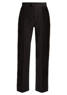 Isabel Marant Philea crystal-embellished cropped trousers