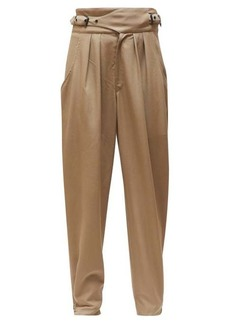 Isabel Marant Pierson buckled-waist cotton trousers