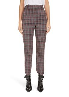 Isabel Marant Plaid Straight Leg Crop Pants