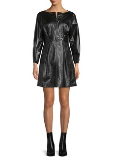 Isabel Marant Pleated Leather Mini Dress