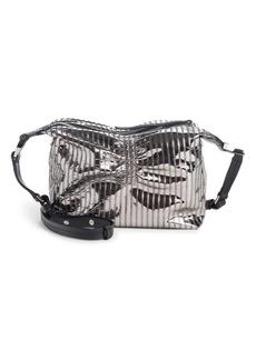 Isabel Marant Pleated Metallic Leather Crossbody Bag