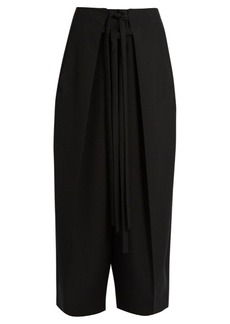 Isabel Marant Pleated-overlay self-fastening cropped trousers