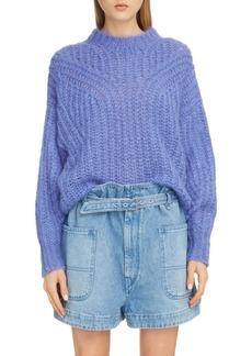 Isabel Marant Puff Sleeve Mohair & Wool Blend Sweater