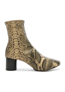 Isabel Marant Python Embossed Datsy Boots
