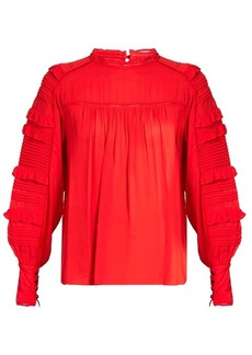Isabel Marant Qimper silk-blend and lace blouse