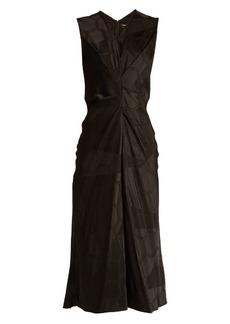 Isabel Marant Ravenax V-neck satin dress