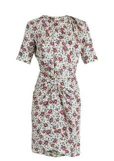 Isabel Marant Rehora floral-print silk-habotai dress