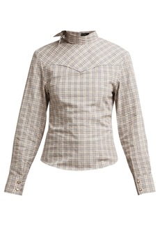 Isabel Marant Reiki checked cotton top