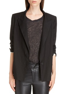 Isabel Marant Riane Stretch Linen Blend Blazer