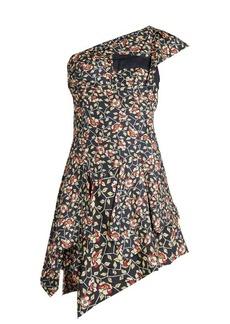 Isabel Marant Ricco floral-print one-shoulder silk dress