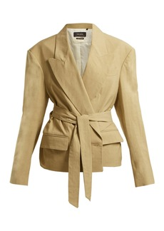 Isabel Marant Riller peak-lapel linen-blend jacket