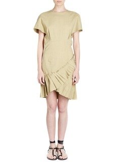 Isabel Marant Rimba Crewneck Short-Sleeve Poplin Dress