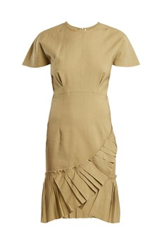 Isabel Marant Rimba pleated-hem linen-blend dress