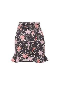 Isabel Marant Roani floral-print cotton-canvas wrap skirt