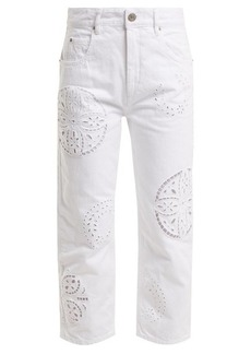 Isabel Marant Ronny broderie-anglaise cropped jeans