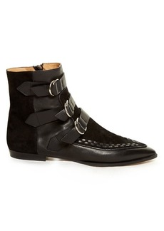 Isabel Marant Rowi leather and suede ankle boots