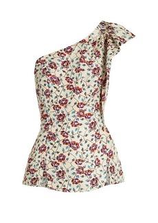 Isabel Marant Rowina floral-print silk top
