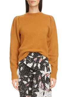 Isabel Marant Ruched Shoulder Cashmere Sweater