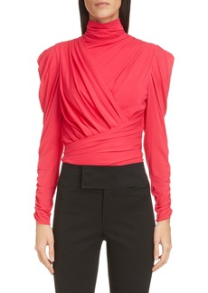 Isabel Marant Ruched Turtleneck Top