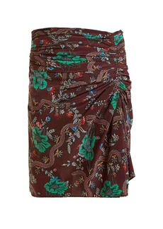 Isabel Marant Ruffle floral print skirt