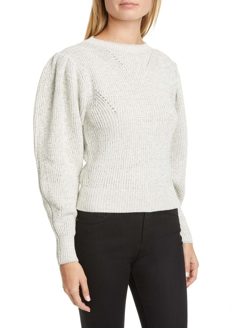 Isabel Marant Ruffle Shoulder Cotton Blend Sweater
