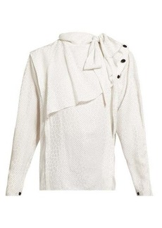 Isabel Marant Saki draped silk-blend blouse