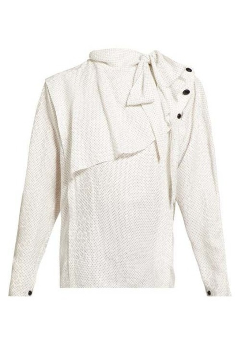 Isabel Marant Saki draped silk-blend blouse