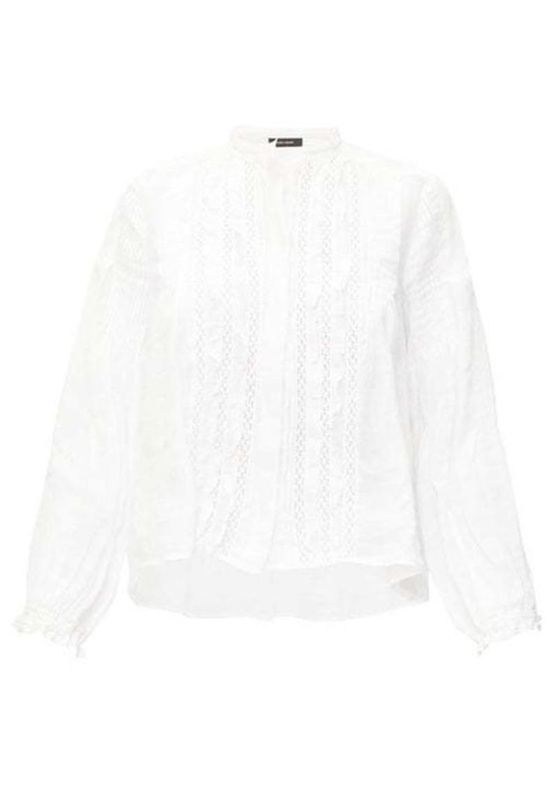 Isabel Marant Samaly ruffled ramie blouse