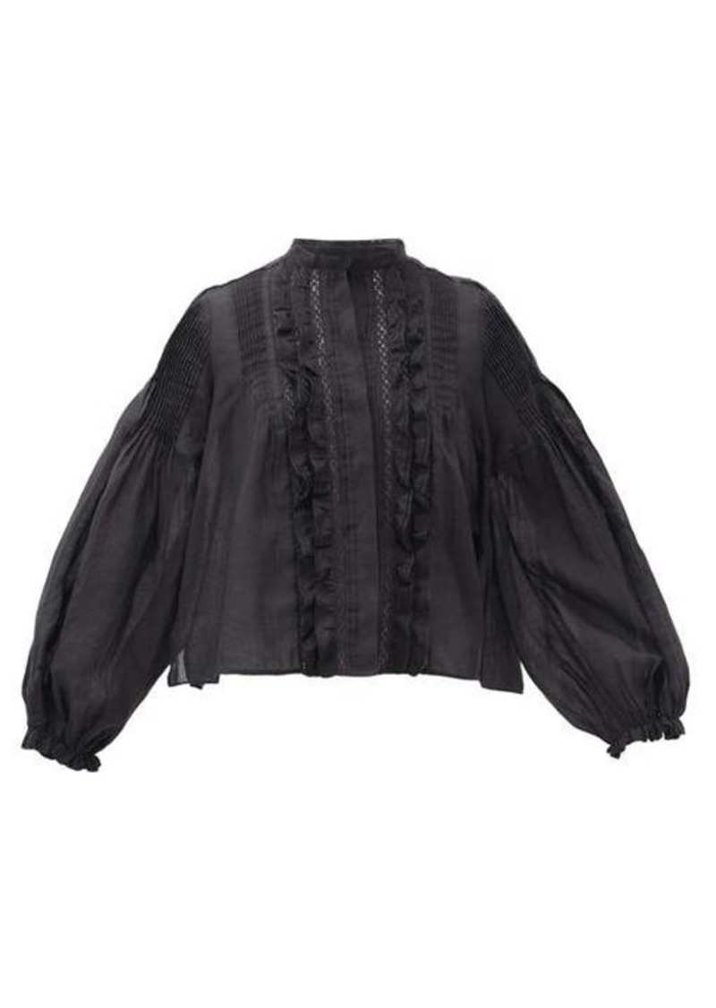 Isabel Marant Samaly ruffled ramie top
