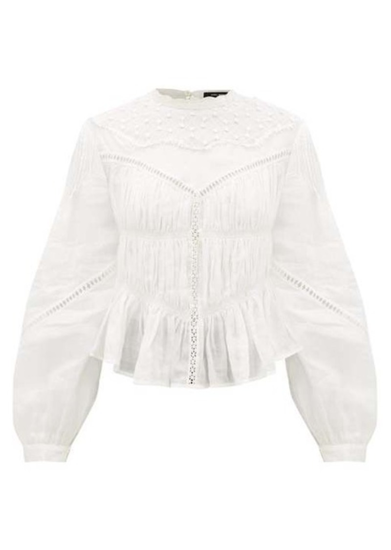 Isabel Marant Samantha embroidered ramie-voile blouse