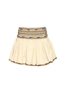 Isabel Marant Saxen embroidered pleated mini skirt